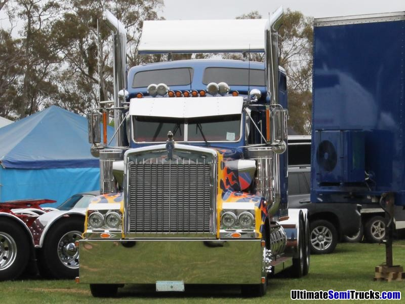 All American Chrome Flamed Out Kenworth