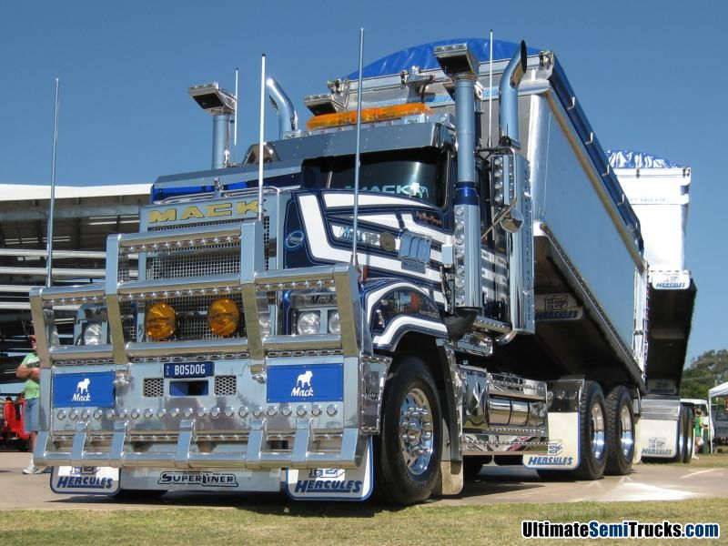 Freedy Deen's Dog Pound Gangster Mack Superliner sporting over 1000 led and neon lights