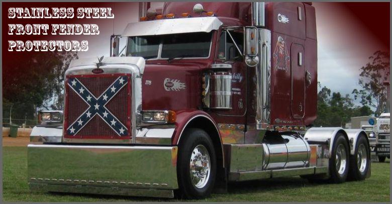 Custom Welded Steel Truck Fenders : Hwy chrome custom and stainless steel truck accessories