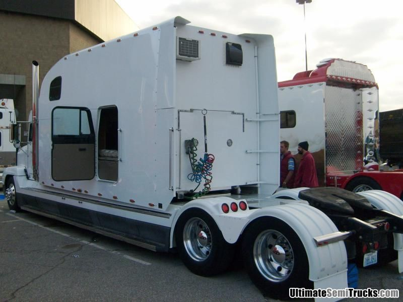 with a custom stretched sleeper from the 2008 Mid America Truck Show